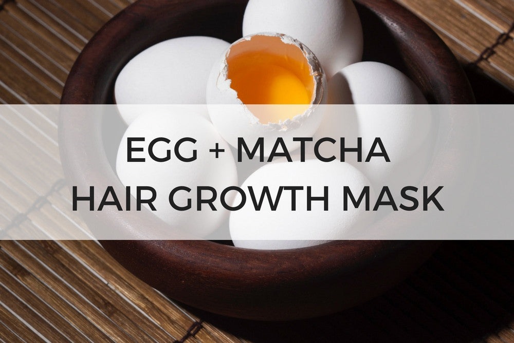 egg + matcha hair growth mask