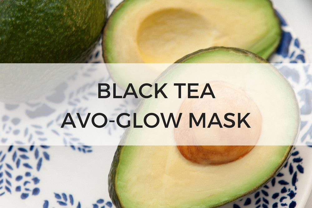 black tea avo-glow mask