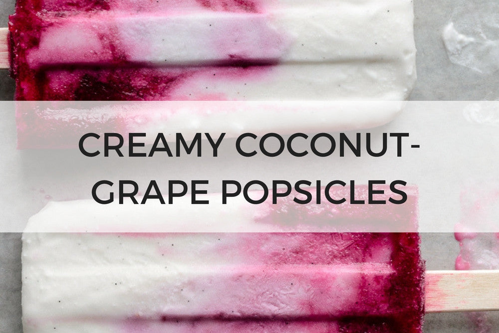 creamy coconut grape popsicles