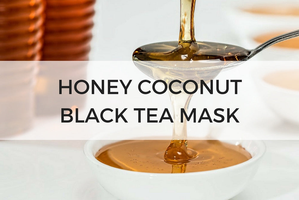 honey coconut black tea mask