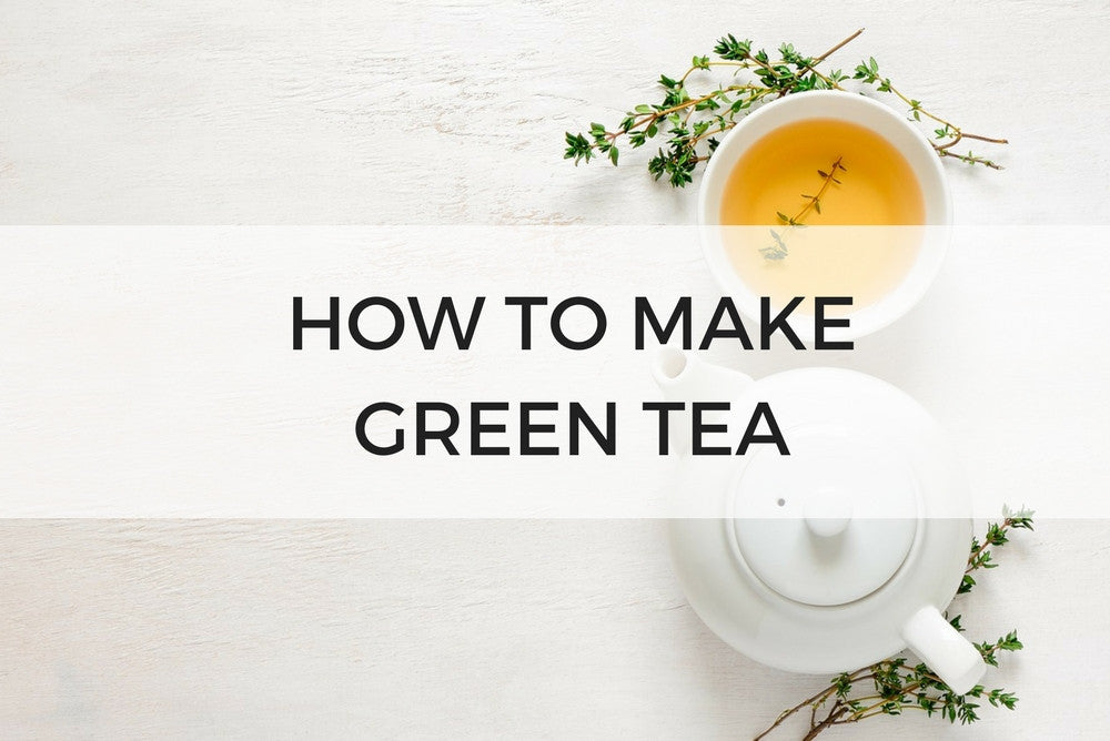 how to steep green tea