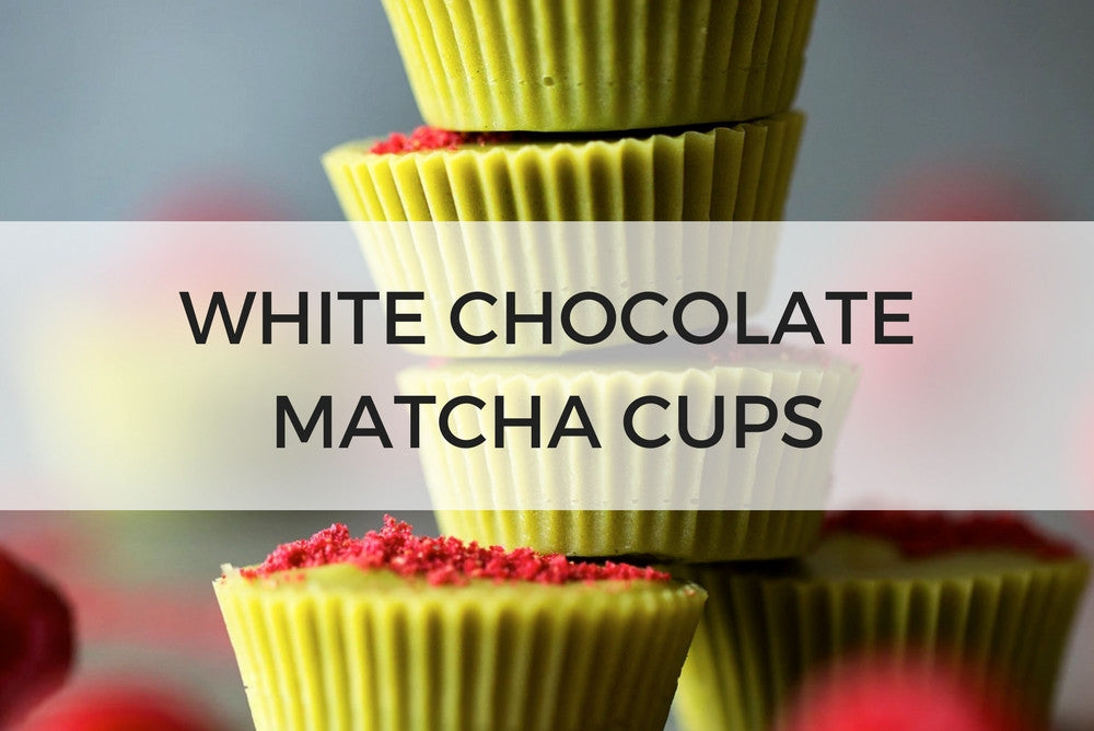 white chocolate matcha cups