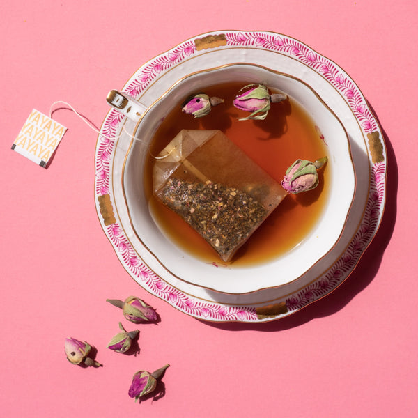 illumination yaupon with rose petals sips by yayaya yaupon 18 tea bags