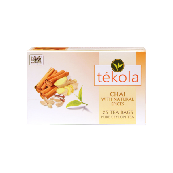 chai with natural spices pure ceylon tea sips by tekola 25 tea bags