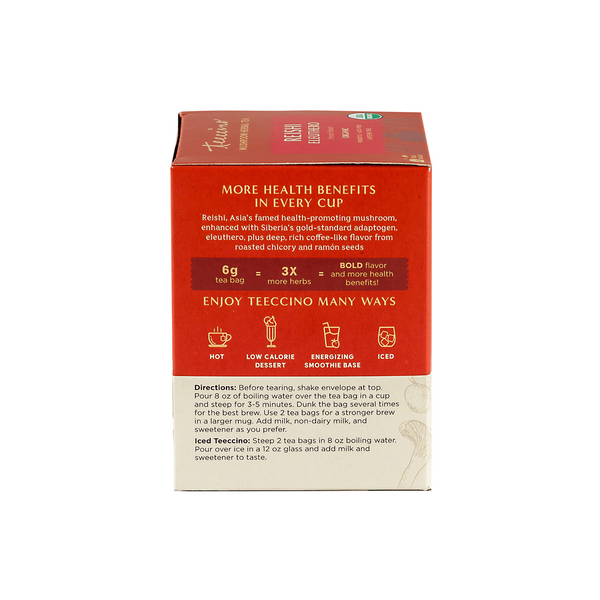 Reishi Eleuthero Mushroom Adaptogen Herbal Tea