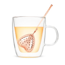 Load image into Gallery viewer, Rose Gold Heart Tea Infuser