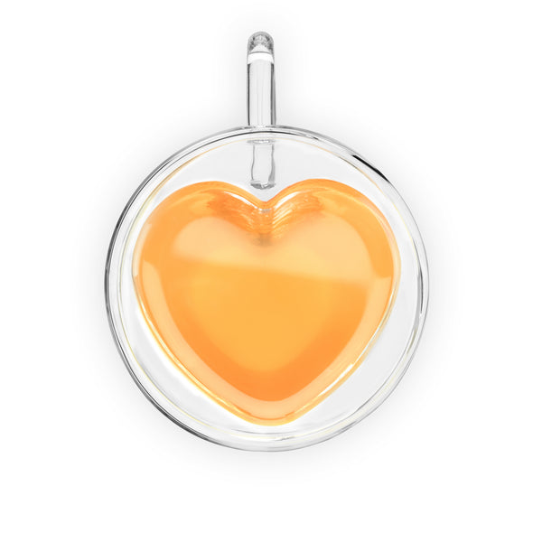 Double-Wall Glass Heart Mug