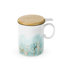 Load image into Gallery viewer, Watercolor Gold Tea Mug with Infuser