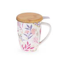 Load image into Gallery viewer, Botanical Tea Mug with Infuser
