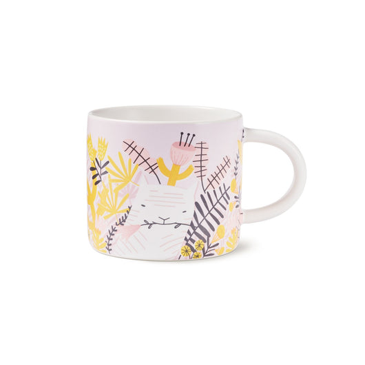 Purple Illustrated Kittea Mug