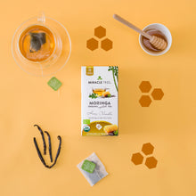 Load image into Gallery viewer, Organic Moringa Herbal Tea - Honey & Vanilla