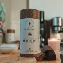 Load image into Gallery viewer, coco choco black tea sips by tanzania tea collection ethically sources biodegredable pyramid  tea bags