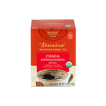 Load image into Gallery viewer, Chaga Ashwagandha Mushroom Adaptogen Herbal Tea