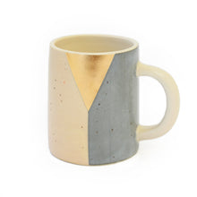 Load image into Gallery viewer, Gold Triangle Ceramic Handmade Mug