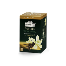 Load image into Gallery viewer, vanilla tranquility flavored black tea with vanilla pods sips by ahmad tea london
