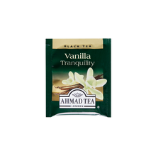 Load image into Gallery viewer, vanilla tranquility flavored black tea with vanilla pods sips by ahmad tea london tea bags