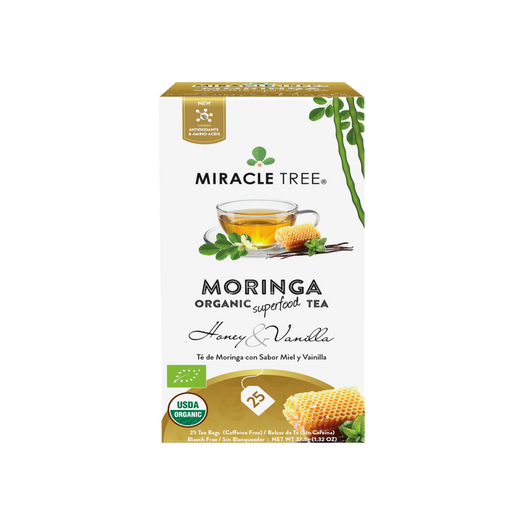 Organic Moringa Herbal Tea - Honey & Vanilla