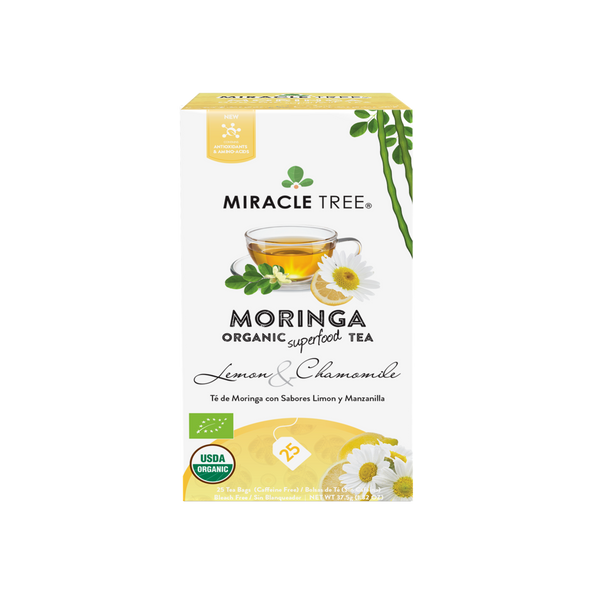Organic Moringa Herbal Tea - Lemon & Chamomile