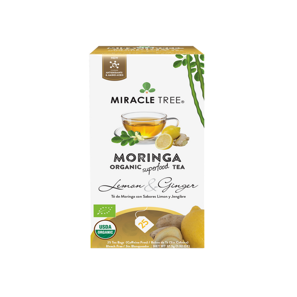 Organic Moringa Herbal Tea - Lemon & Ginger