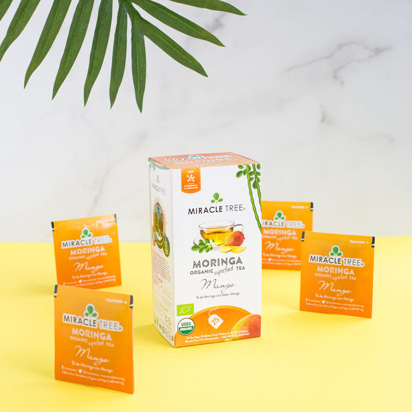 Organic Moringa Herbal Tea - Mango