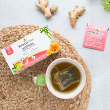 Load image into Gallery viewer, Organic Moringa Herbal Tea - Peach & Ginger