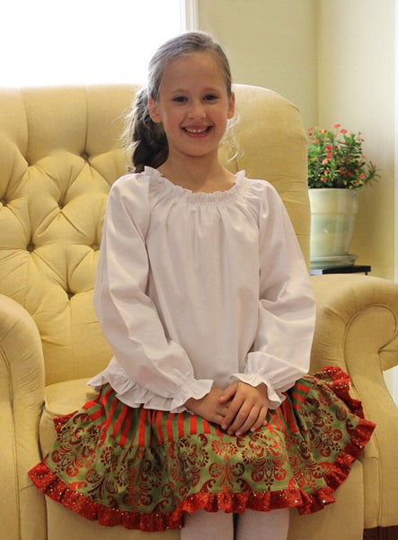 SEW FLATTERING Peasant Blouse PDF Pattern, Long, 3/4 or Short Sleeve, Shirring or Elastic Casing, Sizes 6m-14