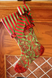 Traditional Fully Lined Christmas Stocking , Easy Holiday Christmas Gift