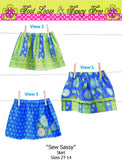 Skirt Pattern , Toddler Skirt Pattern, Easy PDF Sewing Patterns, Girl Skirt Pattern, Easy Pattern, SEW SASSY