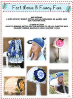 Crochet Cloche Hat Pattern with Ribbon Flower