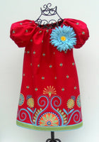 """SEW GROOVY"" Peasant Dress Pattern  Sizes 6 Months - 14 Child - A Line Flattering Fit"