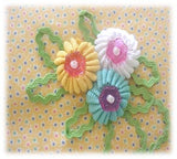 Rickrack Flower PDF Pattern, eBook, Tutorial, Epattern, Easy to Make