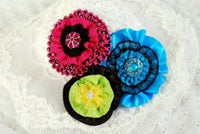 Ribbon Flowers, Ribbon Flower Pin, Ribbon Flower Pattern, Fabric Flower Pattern, PDF Pattern,  Accessories