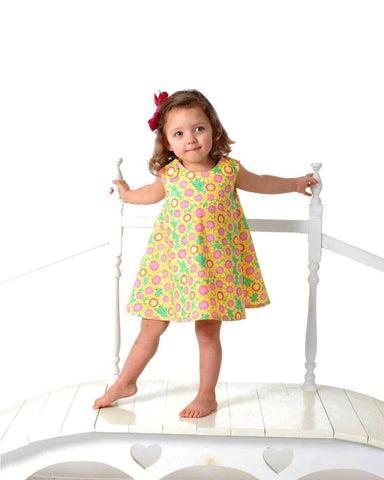 New SEW GIRLY A Line Dress pattern - Baby and Toddler - Classic Reversible Dress/Jumper Pdf pattern