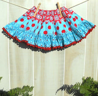 SEW FESTIVE  Tiered Skirt PDF Pattern - Size 2t-14 Child - Easy Sewing Pattern Clothing Skirt