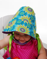 Heirloom Bonnet - Sew Modern  Reversible Bonnet -  Funky and Mod Style - Summer Bonnet - PDF Sewing Pattern - Summer Hat - 3 Versions