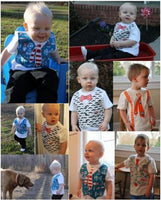 SEW DAPPER Appliquéd Vest or Suspenders with Assorted Ties PDF Pattern Sizes Newborn-5