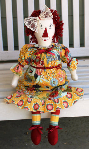 MODERN ANNIE Doll Pattern, PDF Raggedy Ann Doll and Dress Pattern