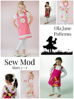 """SEW MOD""  Reversible Jumper Sizes 2-8 Easy Beginner Sewing Pattern"