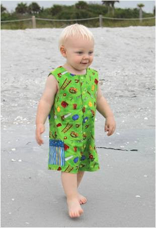 Toddler Boy Romper, Jon Jon PDF Pattern, One Piece Romper, Boy's Clothing, Easy Sewing Pattern