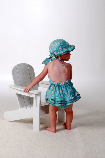 Sew Vintage Sun Suit and Flouncy Hat Pattern, Sizes 3 months - 24 Months, Baby Romper, Sun Bonnet