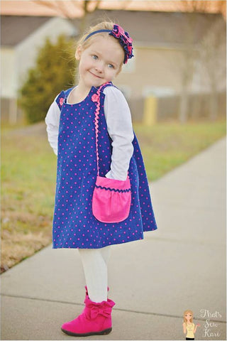 Reversible Aline Jumper Dress Pattern PDF Sewing Pattern 6M-6CH Handmade Children Pattern Instant Download