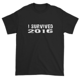 I Survived 2016 - Short sleeve t-shirt