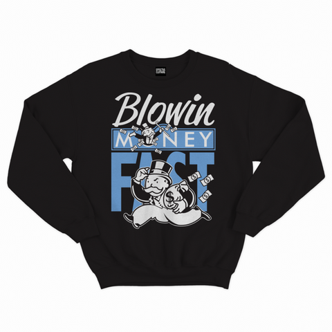 Effectus Clothing Blowin Money Fast UNC Crewneck