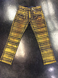 The Plug Gold ribbed jean