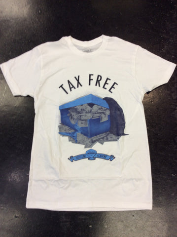 Rich & rugged Carolina blue no tax tee