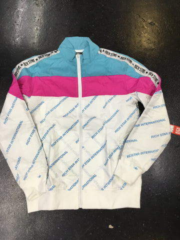 Rich Star colorblock Diagonal repeat Track jacket