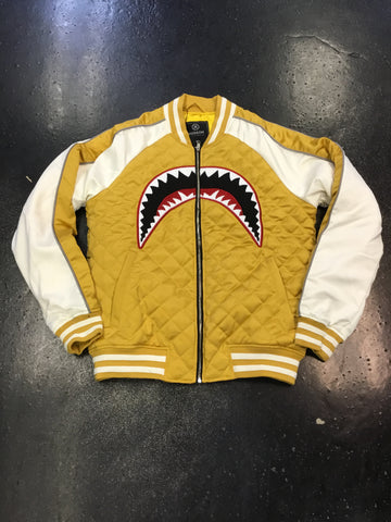 Hudson Quilted Sharkmouth Varsity Jacket