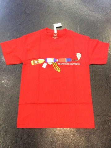 Traphouse ak47 red tee