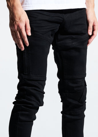 Crysp denim Kurt jet black