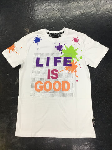 Switch life is good stone tee